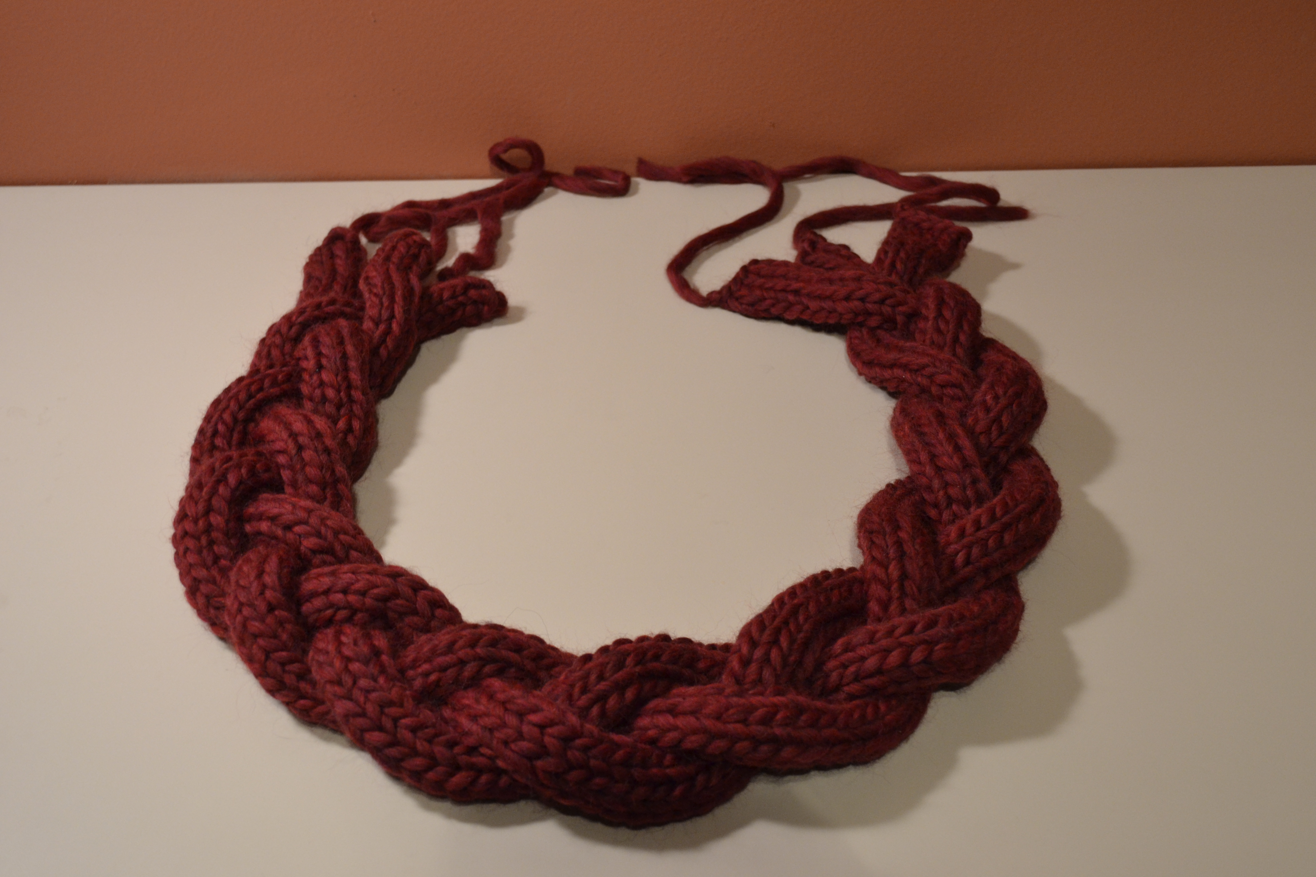 Braided Infinity Scarf Knit Two Hearts Crochet