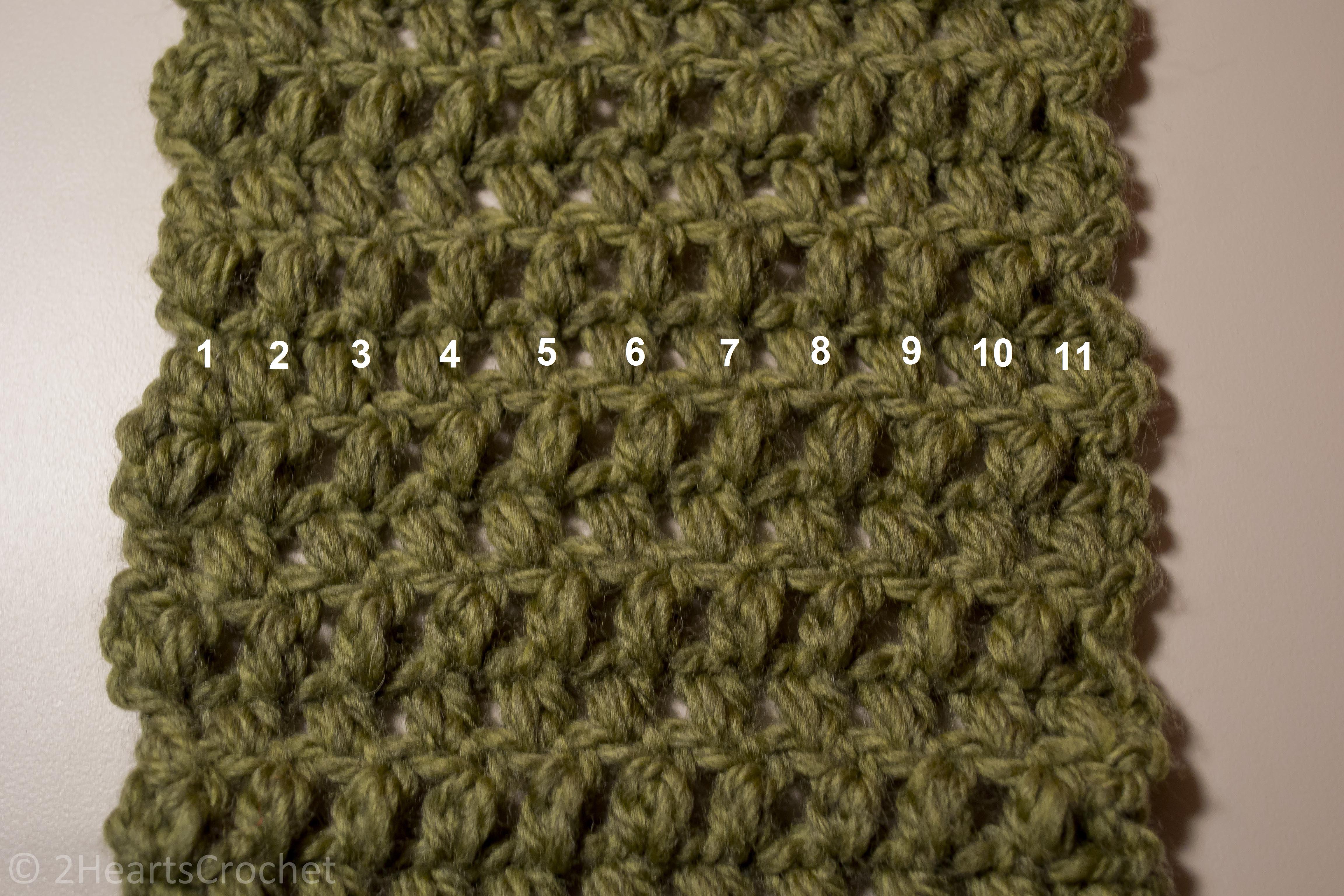 Cozy Puff Stitch Scarf