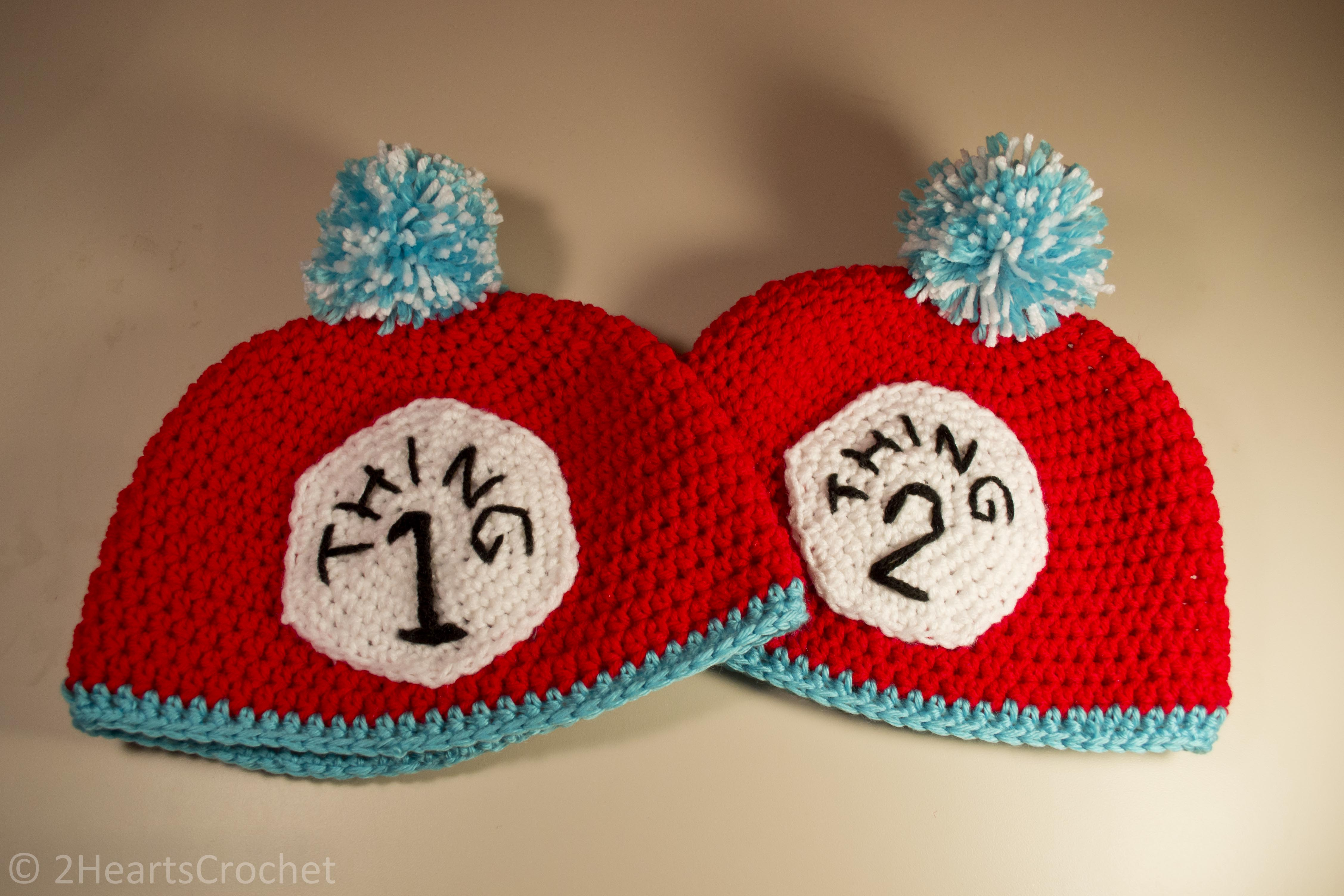 33234da6ab6 Thing 1 and Thing 2 Hats