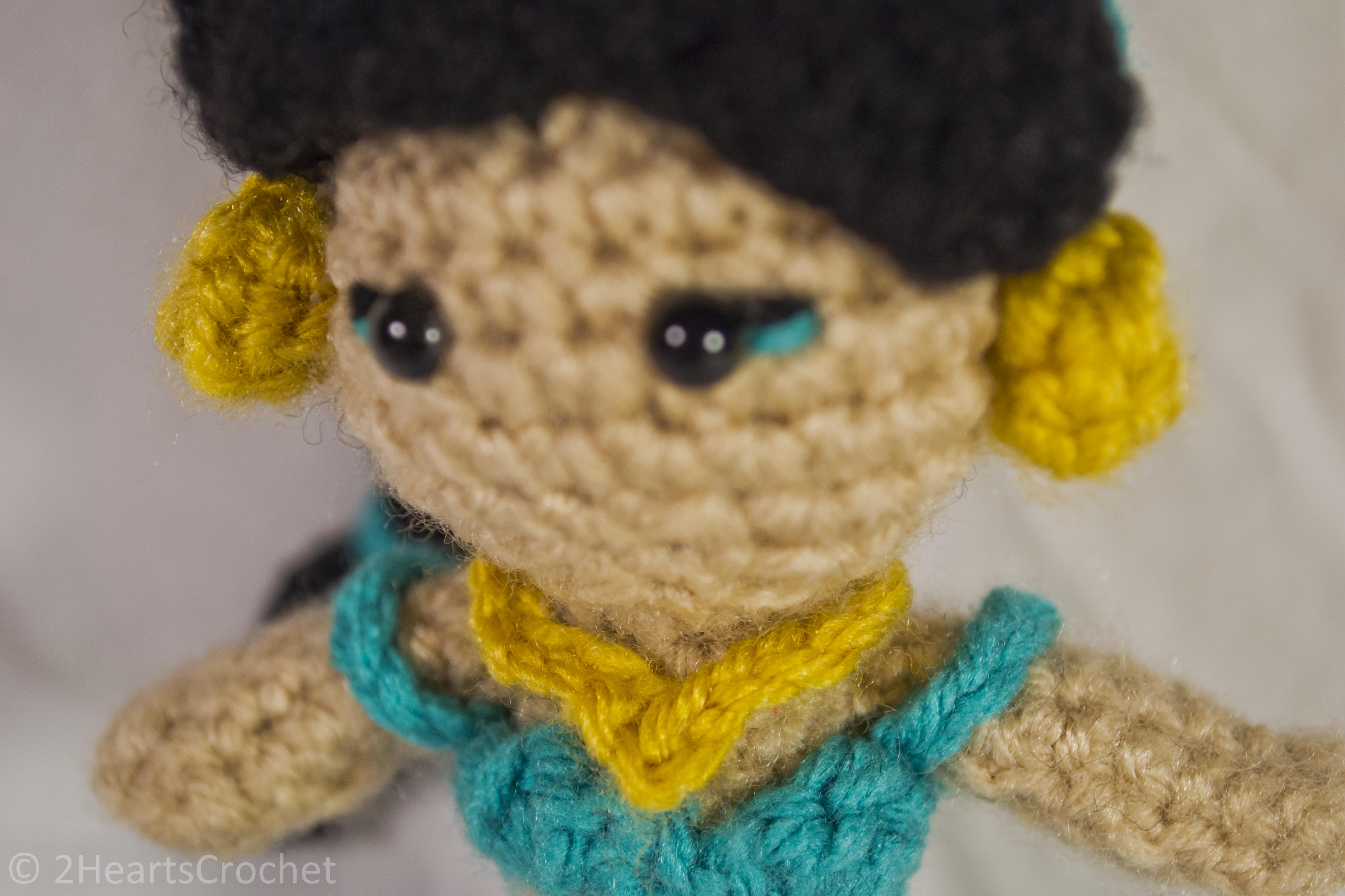Crochet Stitch Jasmine : Princess Pattern: Jasmine (Aladdin) Amigurumi - Two Hearts Crochet