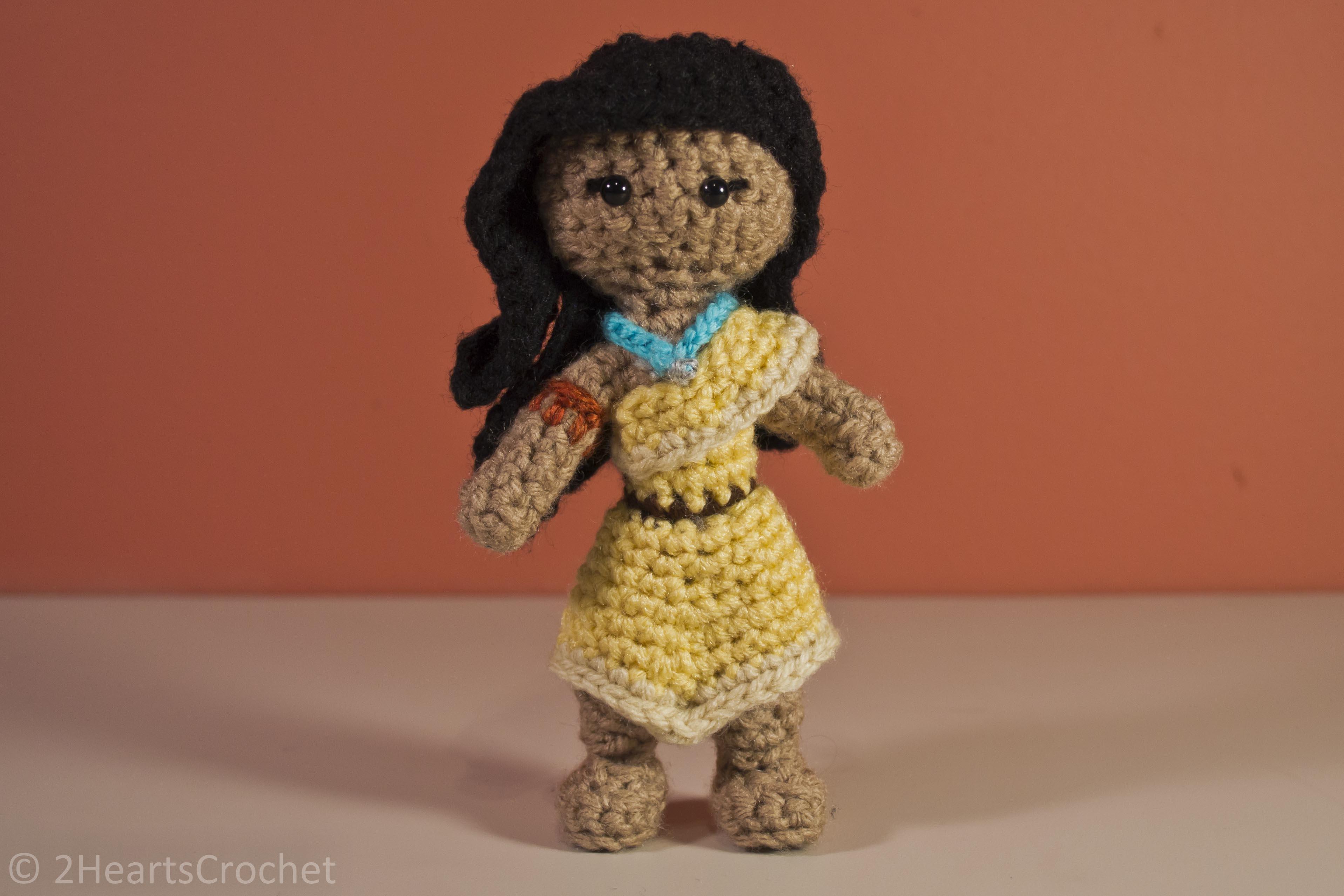 Princess Pattern: Pocahontas Amigurumi Two Hearts Crochet