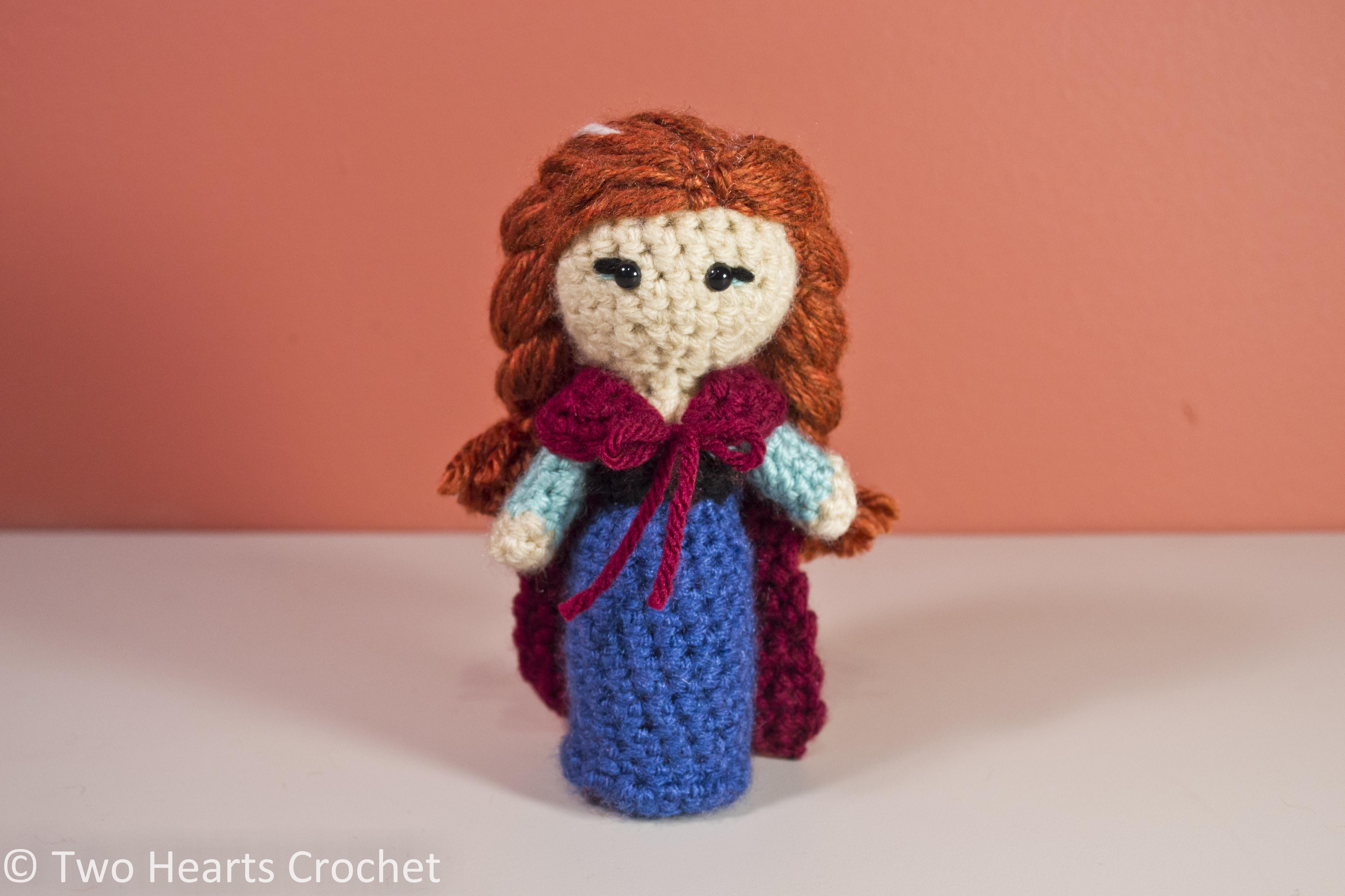 Amigurumi Crochet Frozen : Princess Pattern: Anna (Frozen) Amigurumi Two Hearts Crochet