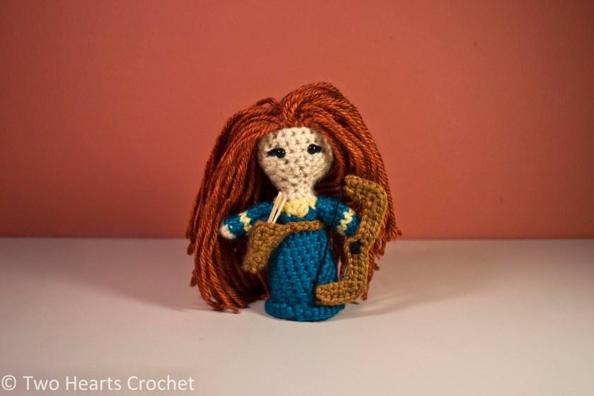 Designer Crochet Amigurumi Patterns Merida Warrior Princess : Princess Pattern: Merida (Brave) Amigurumi Two Hearts ...