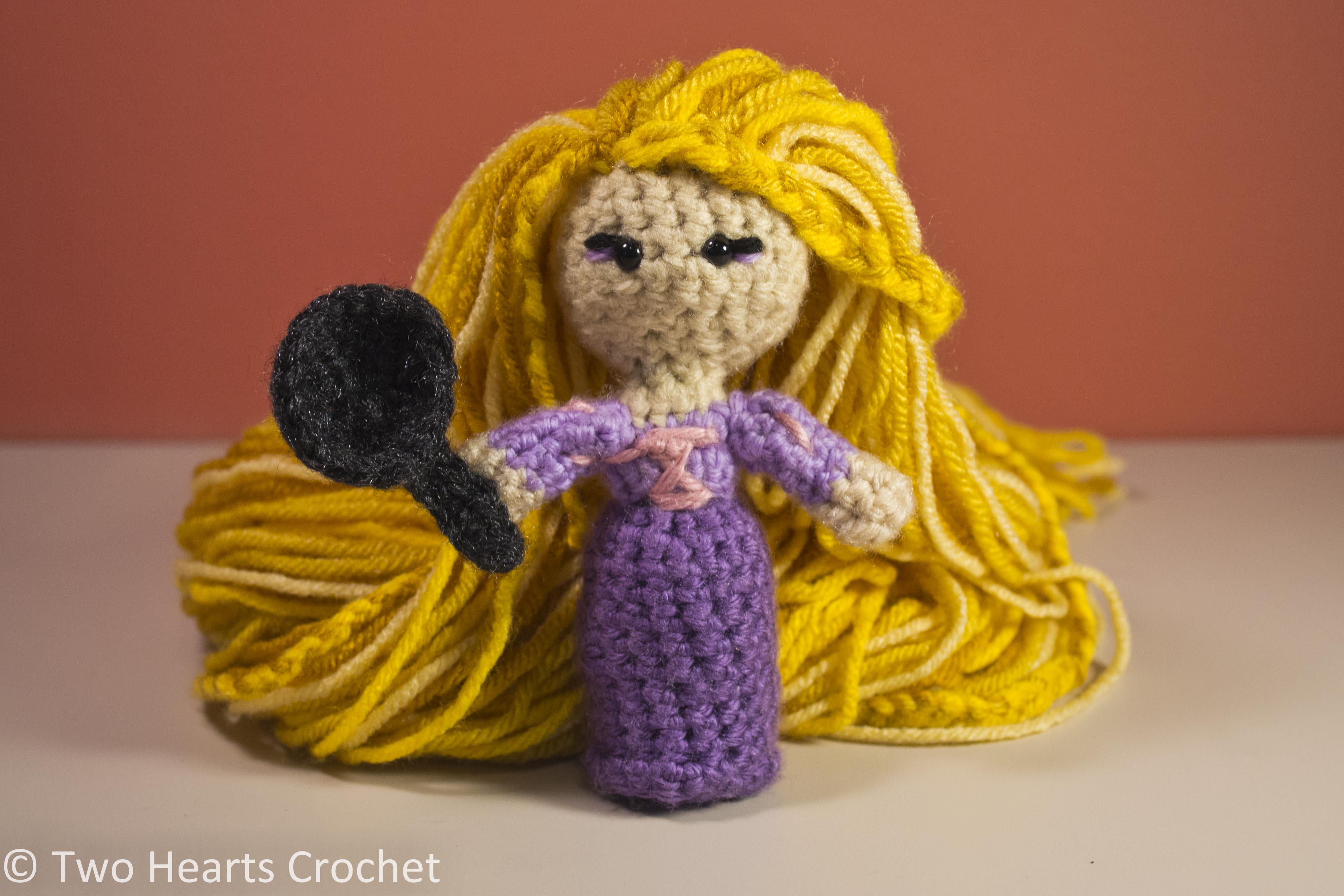 Free Amigurumi Princess Pattern : Princess Pattern: Rapunzel (Tangled) Amigurumi Two ...