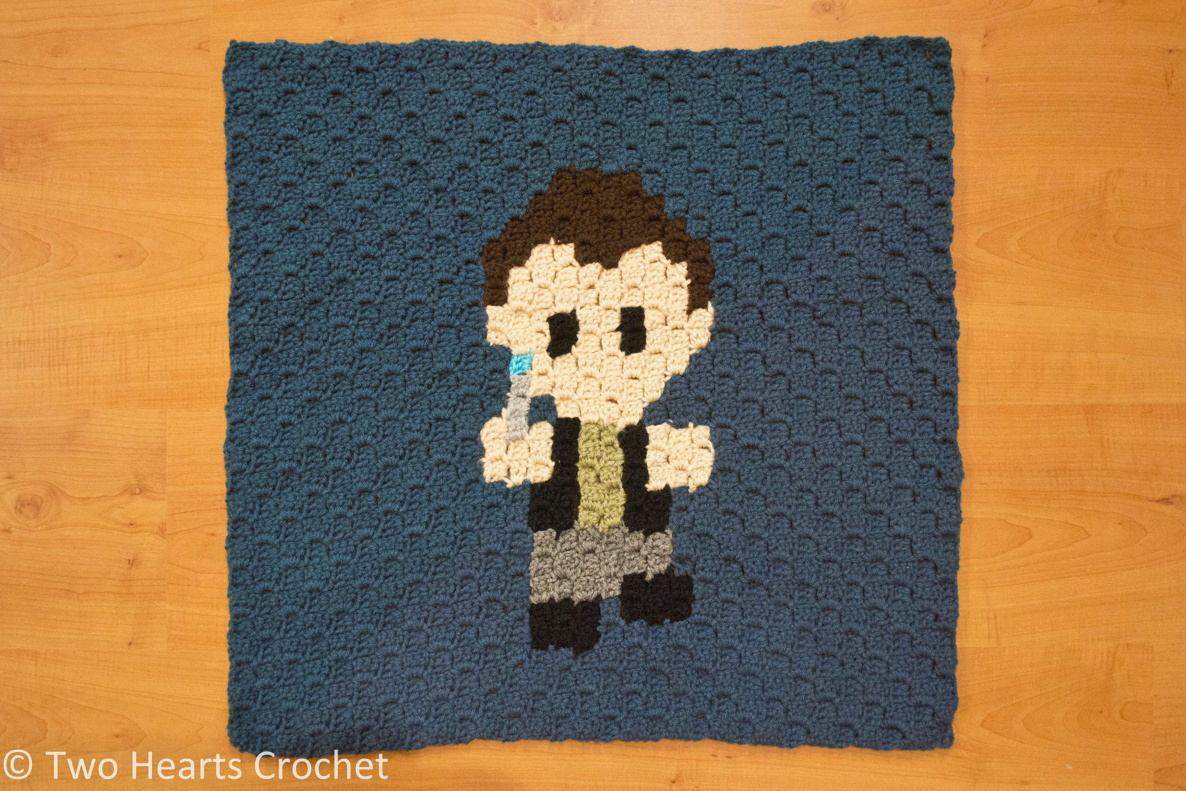 The Whovian Grapghan Heart Shape Crochet Pattern Diagram Square 3 Ninth Doctor