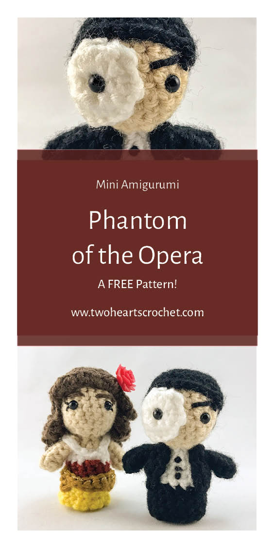 Crochet Phantom of the Opera Dolls Phantom Mini Amigurumi