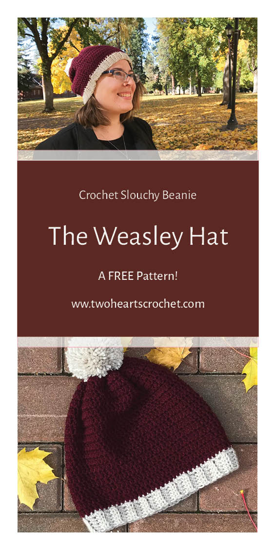 Crochet Slouchy Beanie The Weasley Hat Free Crochet Pattern