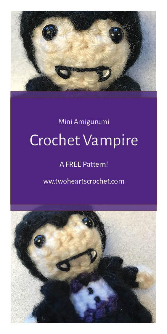 Crochet Vampire Doll Halloween Vamp Mini Amigurumi