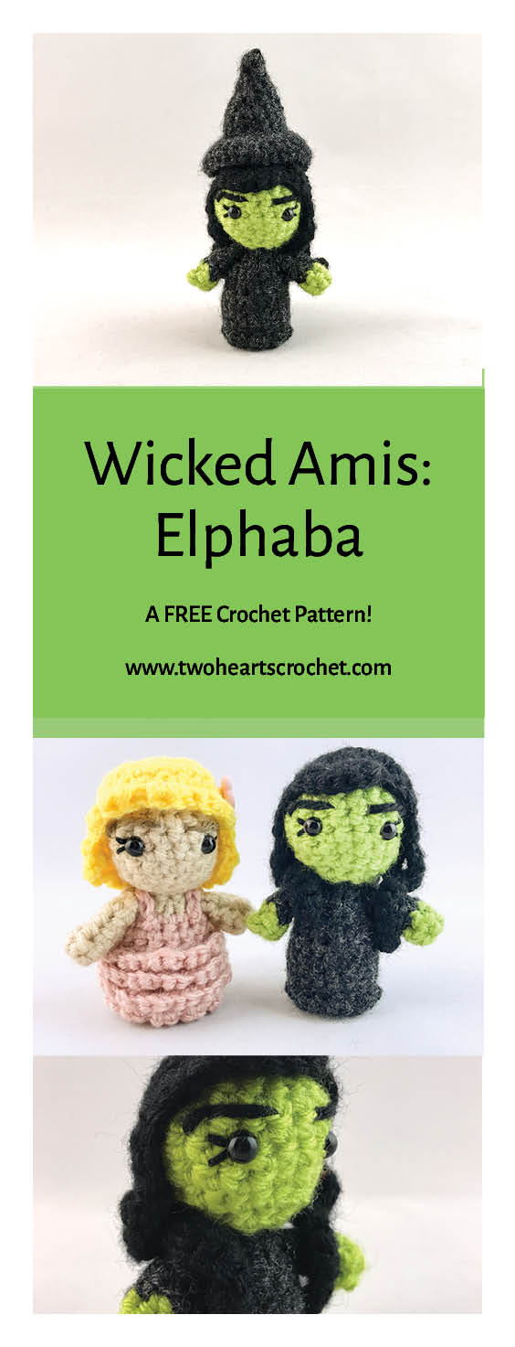 Mini Crochet Wicked Wizard of Oz Dolls Elphaba Amigurumi