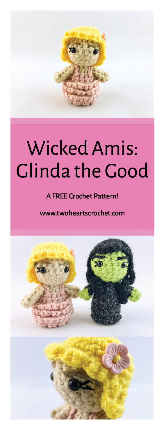 Mini Crochet Wicked Wizard of Oz Dolls Glinda Amigurumi