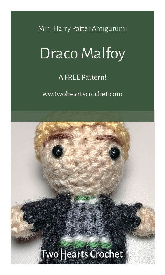 Crochet Harry Potter Dolls Mini Amigurumi Crochet Draco Malfoy Doll