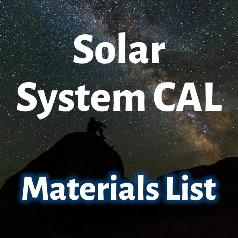 Solar System CAL Materials List