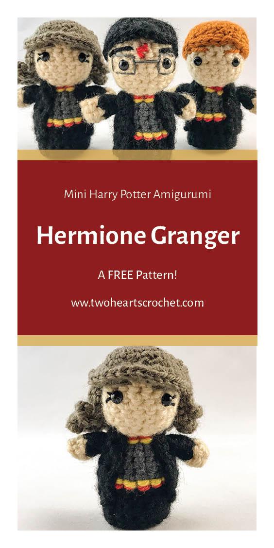 Crochet Hermione Granger Doll Harry Potter Mini Amigurumi