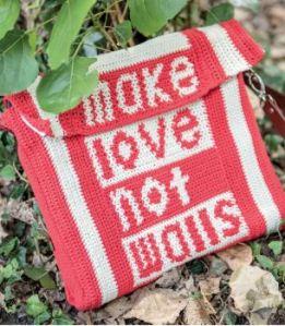 Make Love Not Walls Messenger Bag