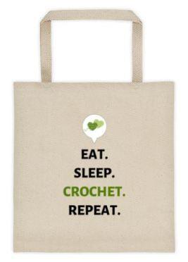 Eat Sleep Crochet Repeat Tote 3